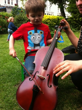 Violin arm!
