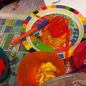 Gabs mixing colours for Venus and Mars