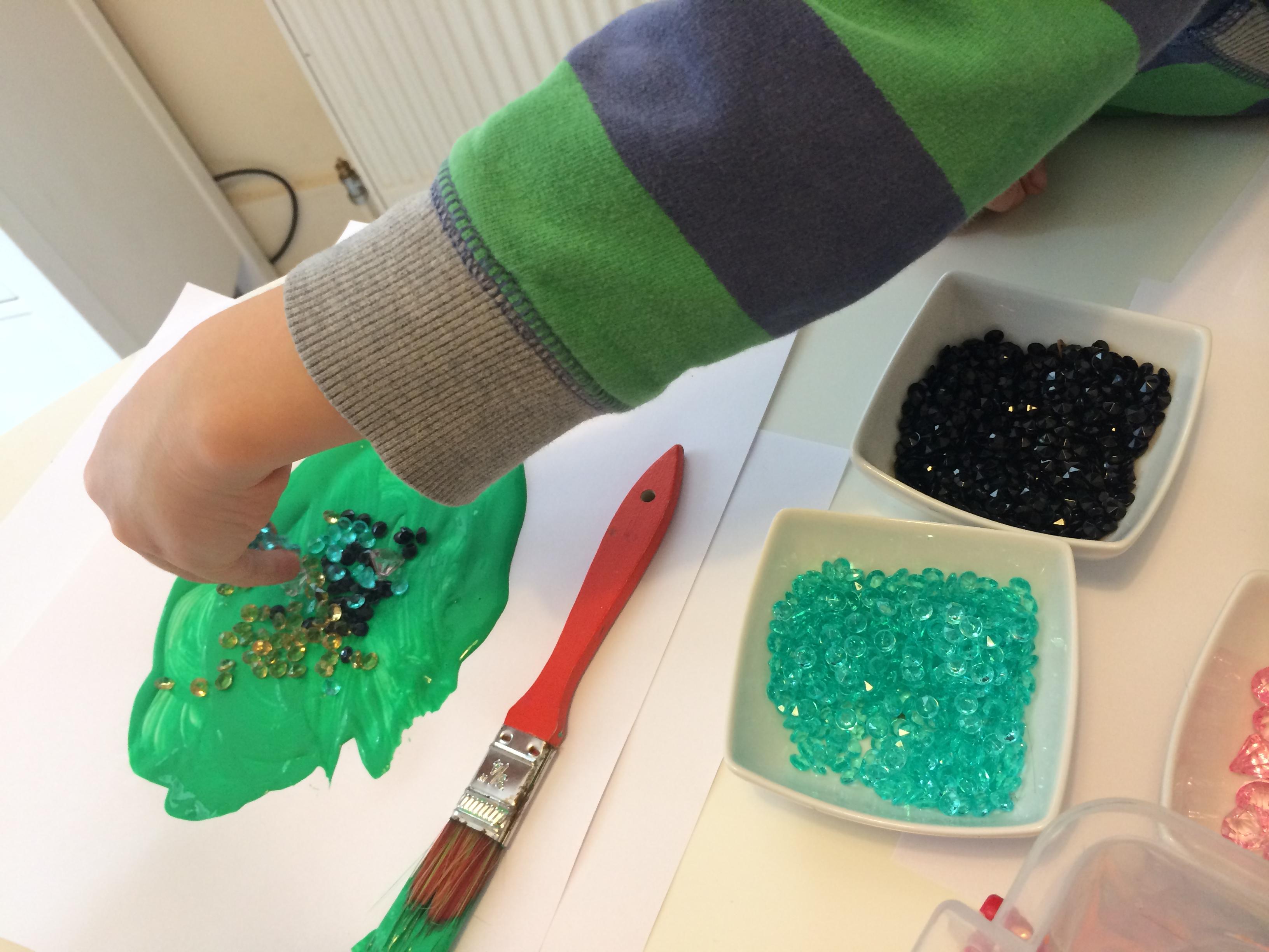 Messy Play for Matilda Mae – Minecraft gem art | Coco&Co.